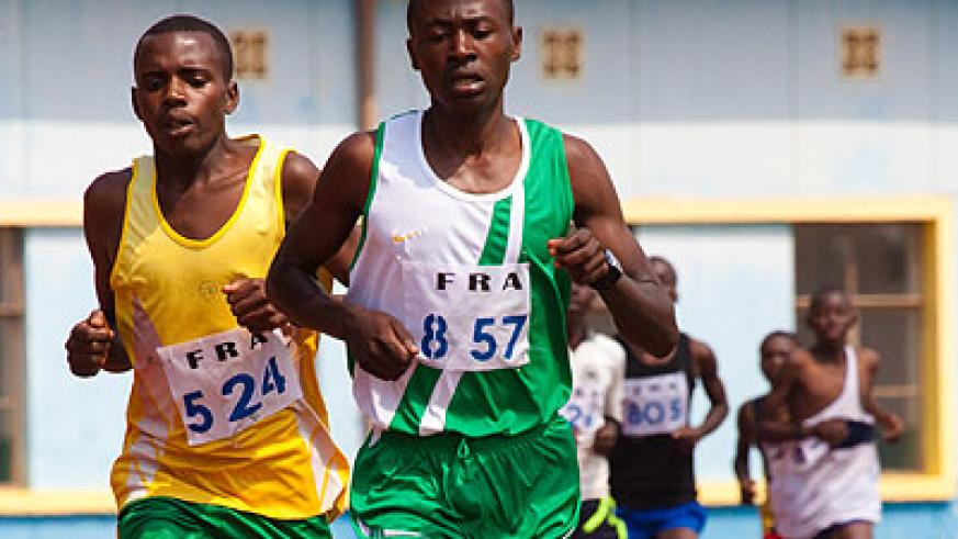 James Sugira (right) will compete in the boys' 3000m and 1500m in Gabarone. (File)