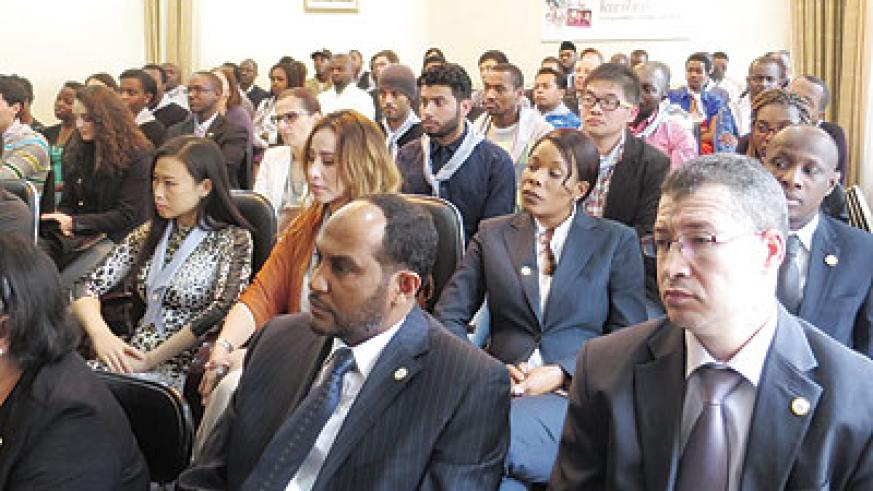 Diplomats and friends of Rwanda during the Genocide commemoration event in China. (Courtesy)
