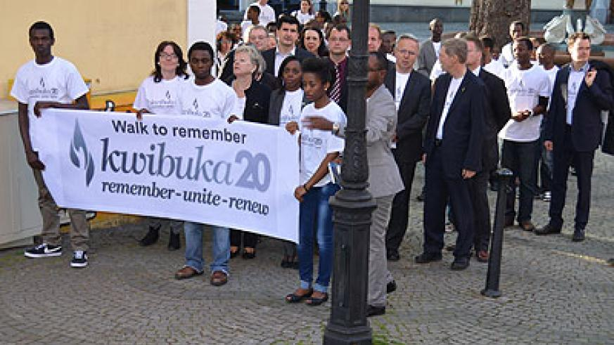 Mourners during a Walk to Remember event in Kaiserslautern, Germany on April 7, 2014. Courtesy.