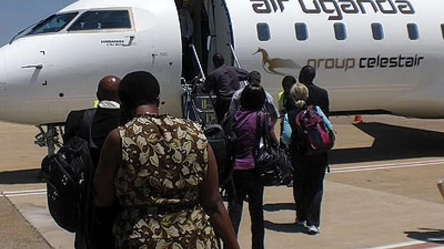 Air Uganda has bowed out leaving the route to Rwanda's national carrier. Net photo.