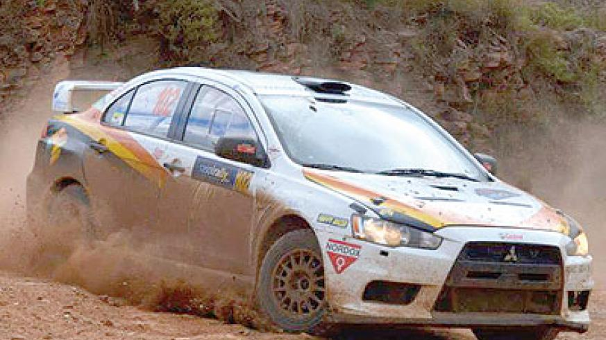 Davite and Vindevogel, in their Mitsubish Evo 10, finished second on Friday in Nelspruit. Courtesy