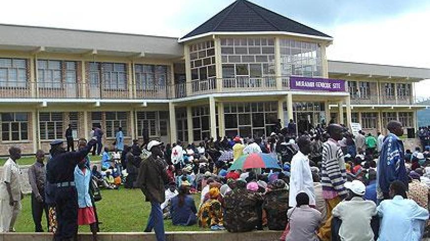 Mourners gather at Murambi Genocide Memorial. (File)