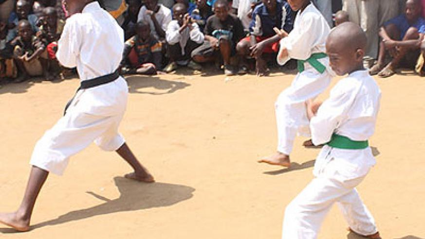 Youngsters doing demonstrations during a previous competition. The local karate federation will hold a Genocide memorial event in June. File
