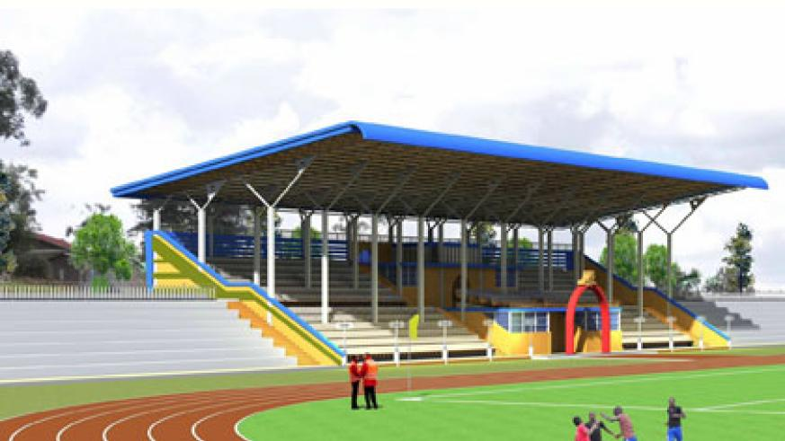 An artistic impression of the Ntare School sports complex. Courtesy.