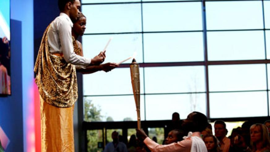 Youth light the Flame of remembrance at Saddleback Church California, US.  Courtesy.