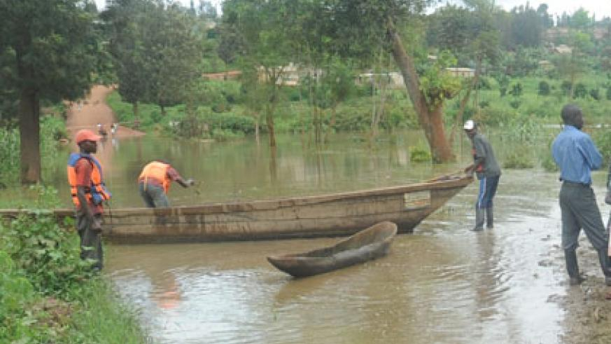 Floods cut off the Kigali-Masaka road in the past. File.