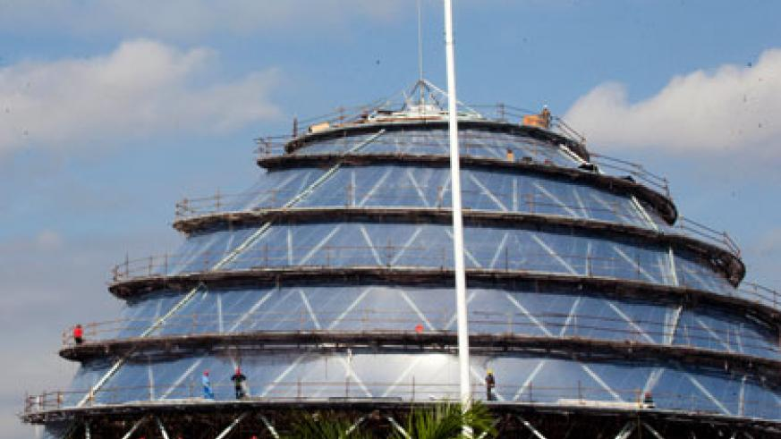 The Kigali Convention Centre is on course for completion, boosting the hospitality sector, as well as giving the city a picturesque landscape. Timothy Kisambira.