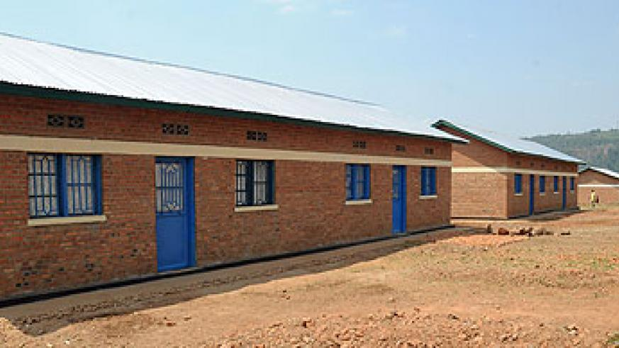 Some of the houses that have been built for residents in Bumbogo, Gasabo District. File.