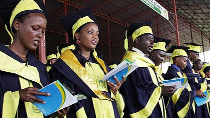 Students graduating at one of the local uiversities recently. The number of graduates is far higher than the available job opportunities. (File)