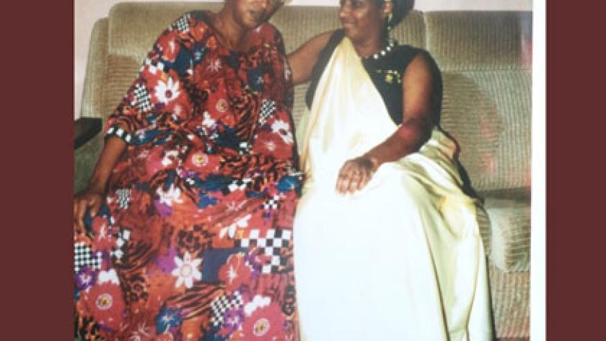 Queen Gicanda (L) with an unidentified friend while on a trip in Europe around 1992. Gicanda was popular among the masses. Courtesy.