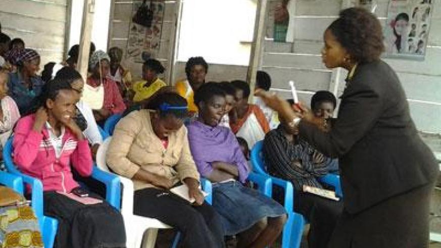 A group of women receiving tips on how to run a business. (Pontian Kabeera)