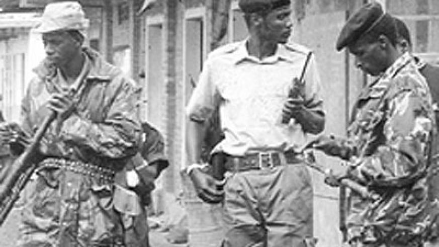 RPF fighters in this undated photo during the liberation struggle in early 1990s. Courtesy.