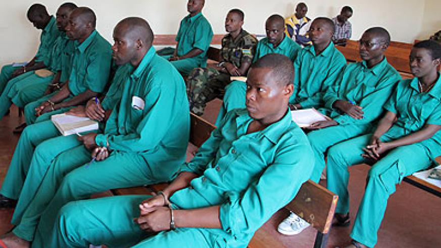 The suspects in court on Wednesday. John Mbanda.