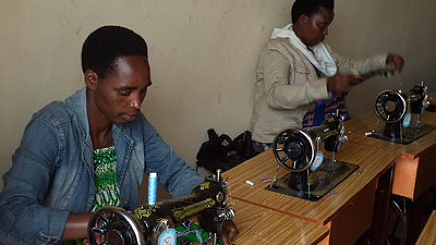 The women trained in various hands-on skills including tailoring, basket weaving, and jewel making. JP Bucyensenge.