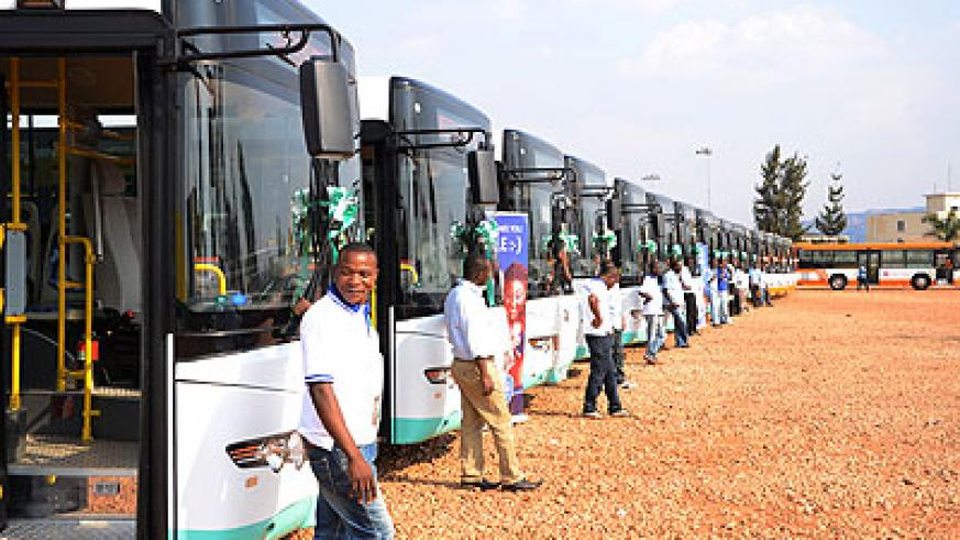 The New Buses. The City of Kigali mayor, Ndayisaba has said the buses will help ease public transport in the city. Samuel Ngendahimana.