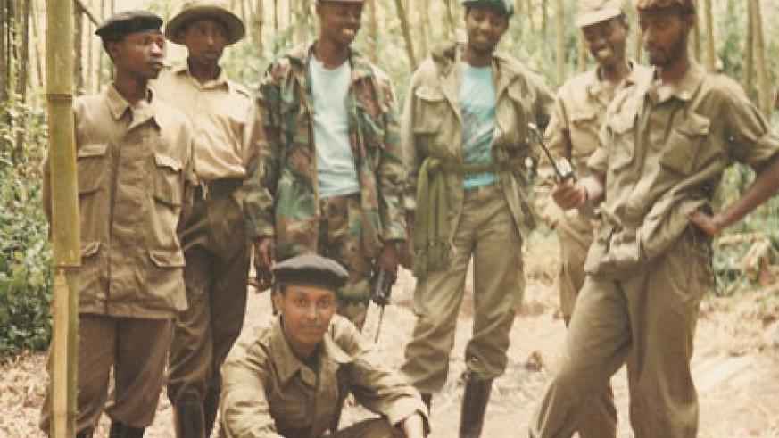 RPF combatants in the early days of the liberation struggle. (Courtesy)