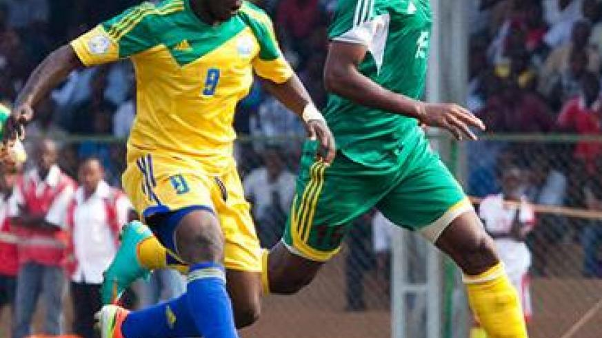 Striker Michel Ndahinduka seen in a previous continental match had little to offer despite coming in the dying minutes of the game to replace Dady Birori in yesterday's match against Congo in Pointe-Noire. File.