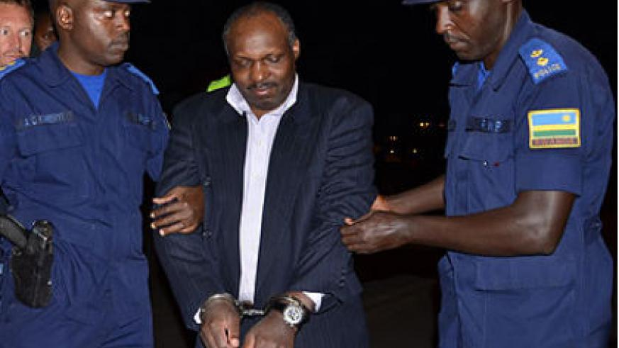 Mbarushimana on arrival in Kigali from Denmark. File