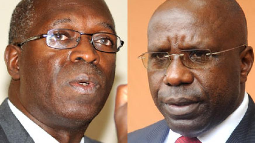 Anastase Murekezi (L) has been appointed as prime minister, replacing Dr. Pierre Damien Habumuremyi. (File)
