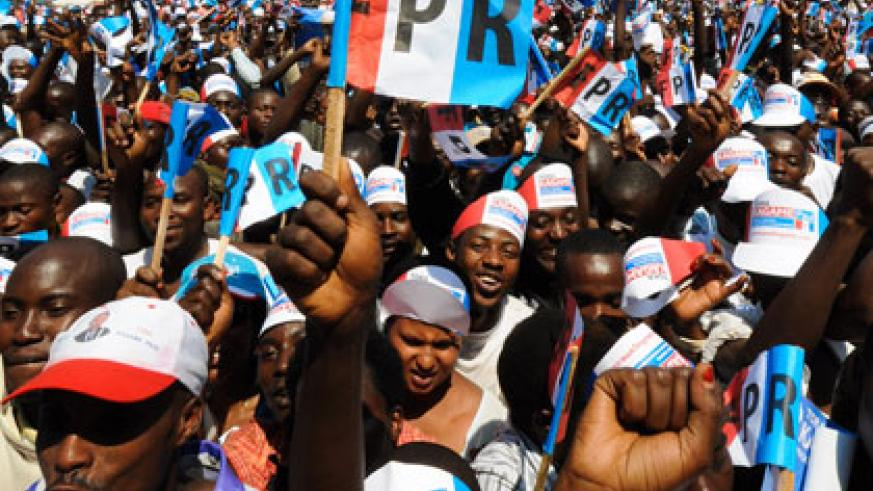 RPF supporters at a past campaign rally.  File.