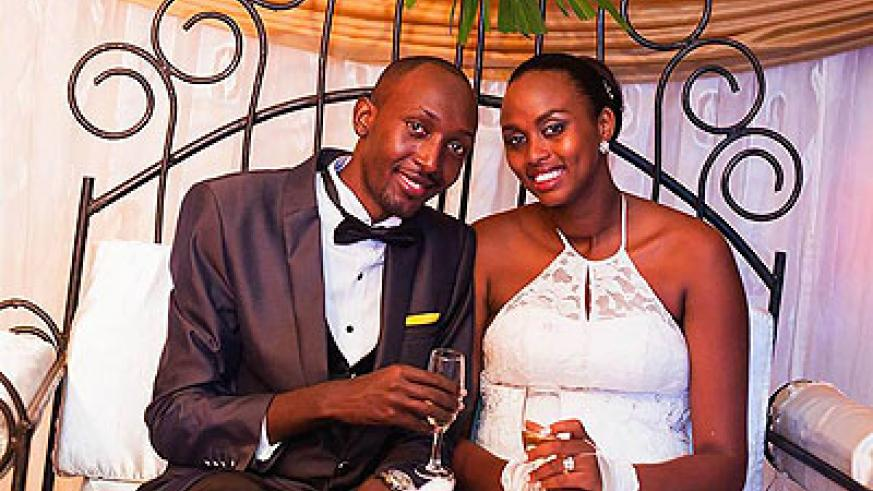 DJ Pius and Umulisa on their Wedding Day in March