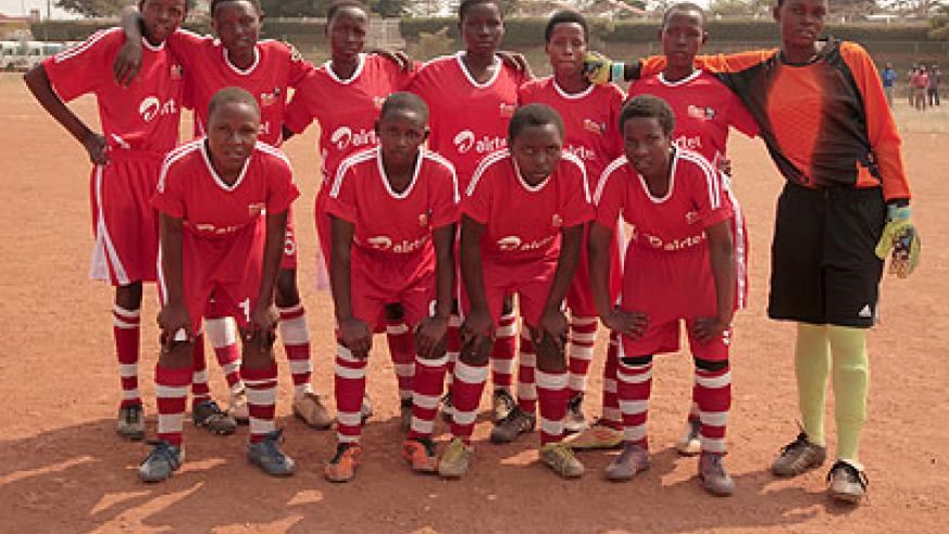 AS Kigali U15 academy team is favourite to win this year's ARS girls' title. Courtesy