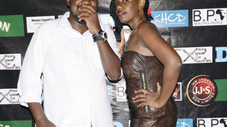 Beautiful People Party organiser Reno Kabachelor with a reveler at a past event. (Courtesy)