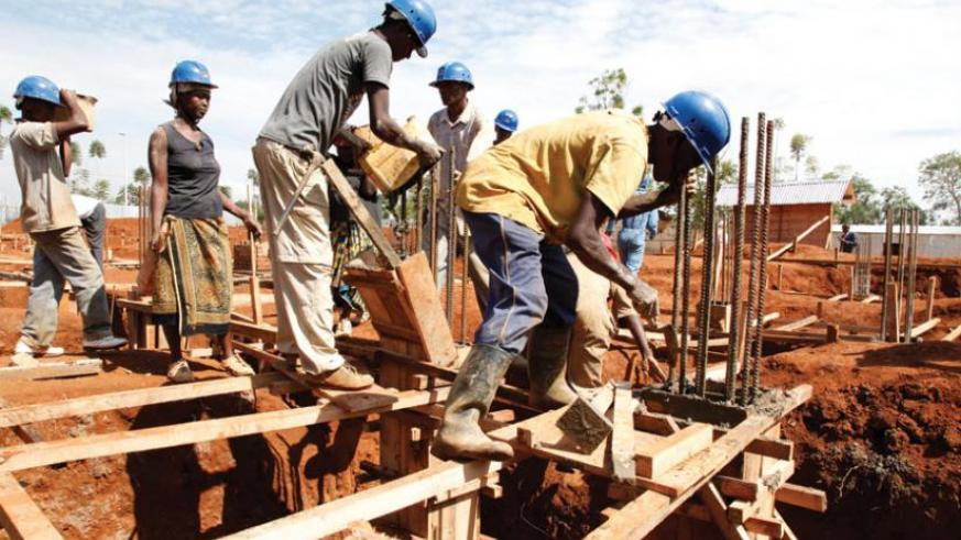 Builders at a construction site. The city sector instituted reforms in the construction industry last year that have greatly eased processes. (File)
