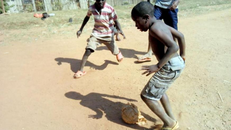 The holiday helps children catch up with their friends at home through games such as football. (Dennis Agaba)