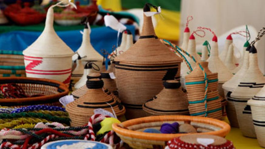 Agaseke Baskets are some of the products that Rwanda exports to US. File.