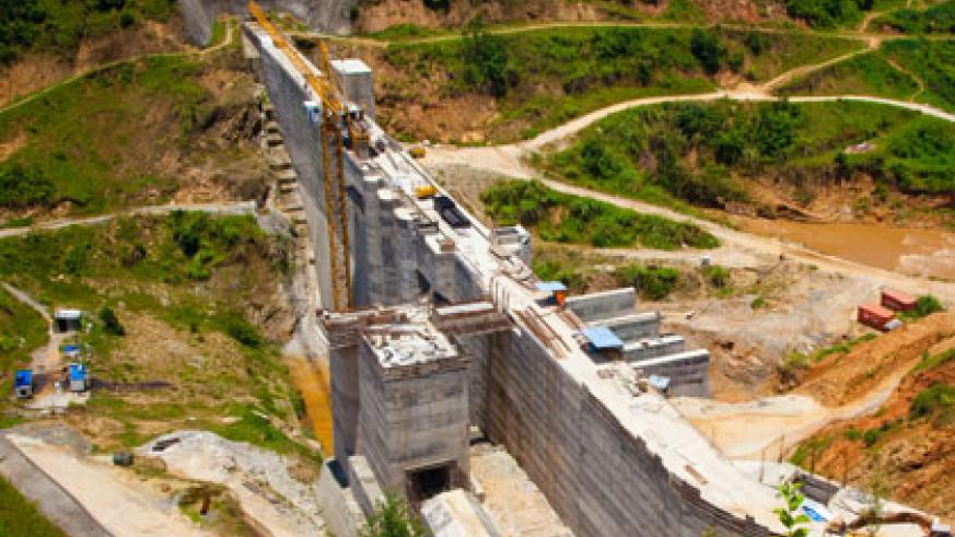 Nyabarongo Hydro Power project which is still under construction. The premier reaffirmed government's commitment to increase electricity supply from the current electricity grid capacity of 119 MW to 563MW by 2017. (T. Kisambira)
