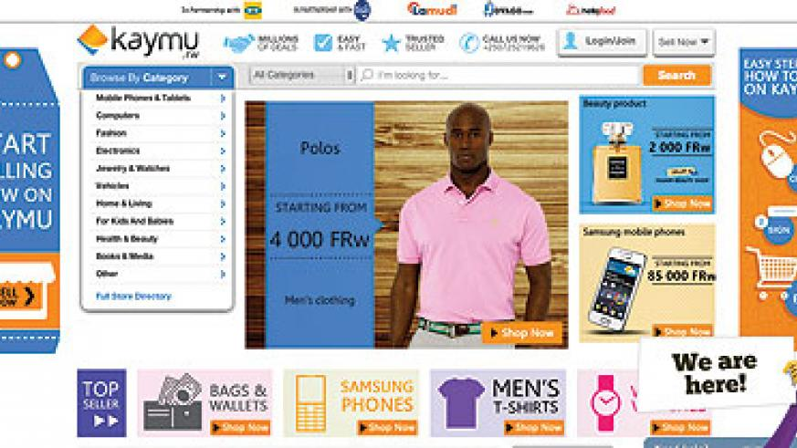 <p>A screen shot of the Kaymu online market page. Rwandans are continually taking to the Internet shopping because of its convenience and &lsquo;classy feel&rsquo;. Ivan Ngoboka.</p>
