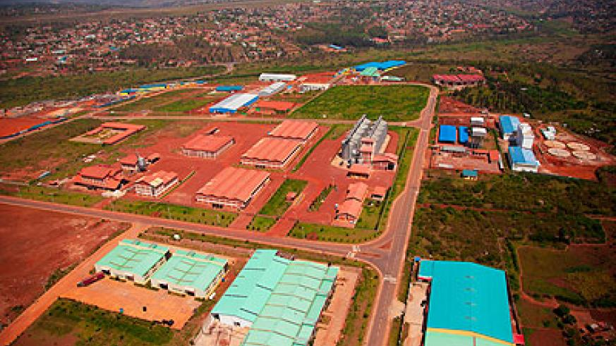 An aerial view of the Kigali Special Economic Zone in Nyandungu, Gasabo.Timothy Kisambira.