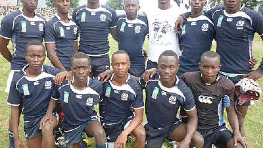 Ste Famille rugby team that will represent Rwanda at this month's regional post-primary games in Tanzania. Courtesy