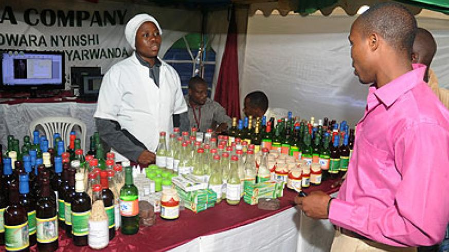 While some people were making inquiries as regards the varied assortment of medicines on display, others sat waiting for their turn to consult Alphonse Rutazihana, the owner of the Muhanga-based business.