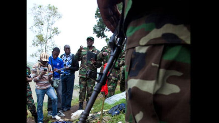 Some of the gadgets used FDLR that were captured by RDF on November 28, 2012, in Rubavu.   File.