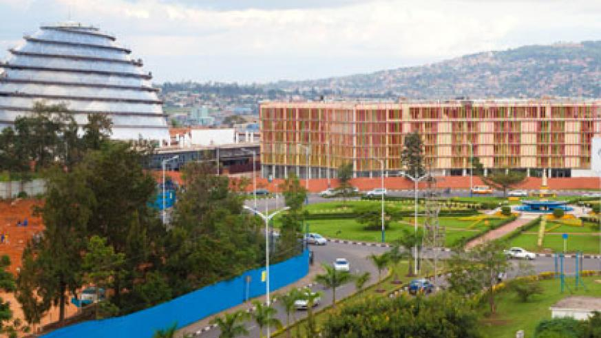 The Convention Complex, one of the infrastructure projects that have benefited from a treasury bond, is close to completion. T. Kisambira.