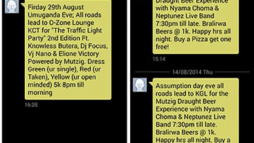 Some of the unsolicited messages that telecom companies keep sending on the mobile phones of their clients.