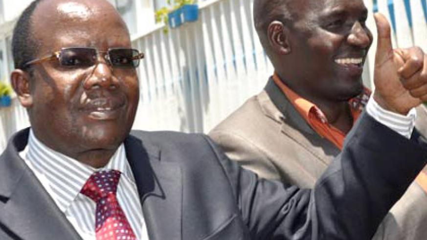 Football Kenya Federation chairman Sam Nyamweya, left, has suggested a joint EAC bid. (Internet photo)