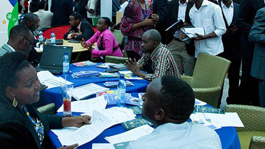 A past employment forum in Kigali. File.