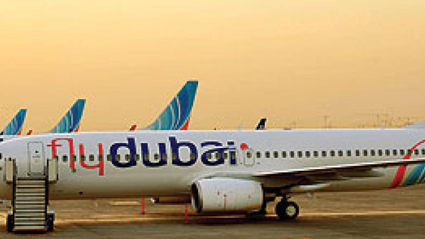 A fleet of flydubai planes. The airline will next month start three routes in East Africa. Courtesy.