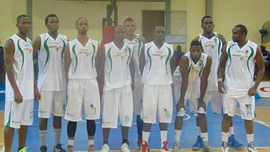 Espoir basketball club players pose for the camera before yesterday's classification game against Coop. Bank. Courtesy photo