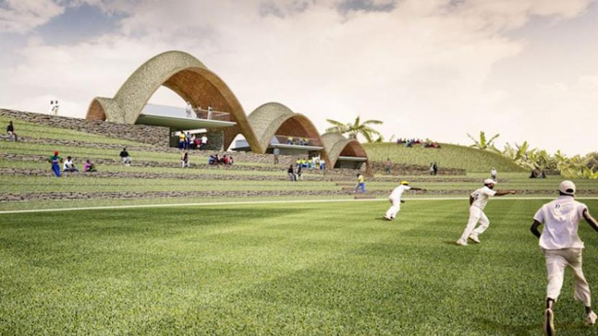 The architectural impression of Rwanda Cricket Stadium which will be constructed in Gahanga. (Courtesy)