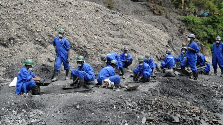 Mining in Nyakabingo, Rulindo District. The new agreements, according to officials, will help boost the mining sector. (File)