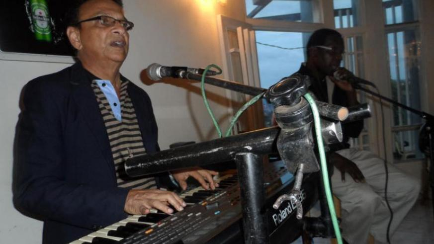 Tony Remedios performs at one of the hotels recently. (Moses Opobo)