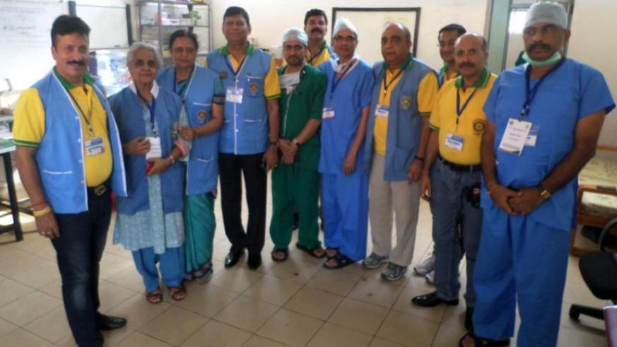 Rotary medical Mission team pose for a photo at CHUK. (Ivan Ngoboka)