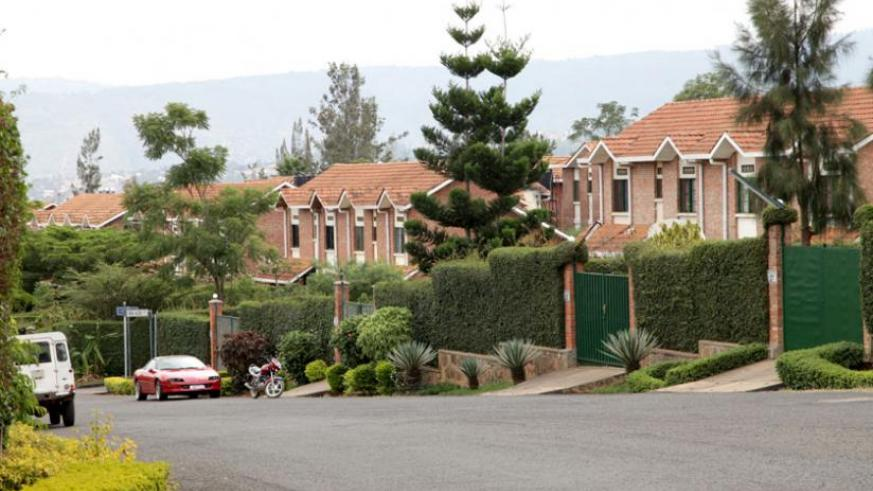 An upscale estate in Kigali; some local property owners have preferred to demand their rental fees in dollars. (File)