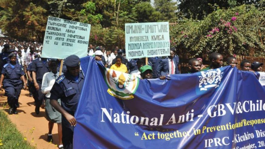 Anti-GBV, child abuse drive strike positive chords | The New Times ...
