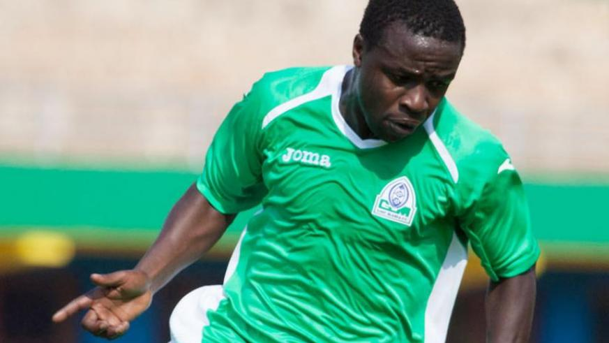 Kenyan international Collins Okoth, seen here playing for Gor Mahia during the Cecafa Kagame Cup tournament in Kigali mid this year. Kenya is bidding to host Afcon 2017. (T. Kisambira)