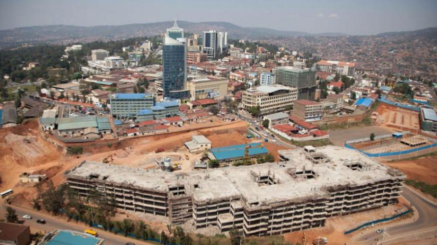 An aerial view of Kigali city.  (File)